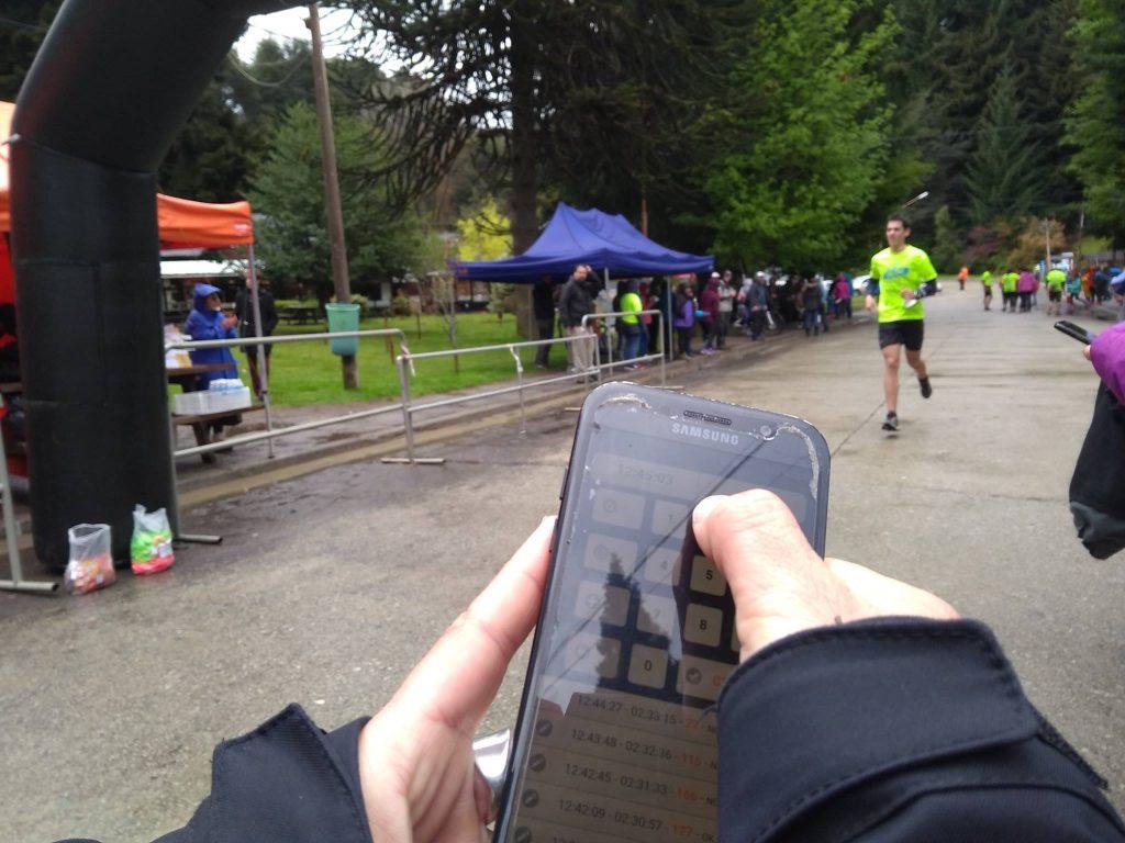Aplicación de cronometraje en el celular